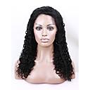 evawigs 100% Brazilski djevičansko ljudska kosa prirodno crna boja kinky kovrčavu punu čipke perika