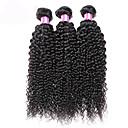 人間の髪編む ペルービアンヘア カール 6ヶ月 3個 ヘア織り