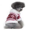 Psi Kaputi Puloveri Srebrna Crn Odjeća za psa Zima Proljeće/Jesen Snowflake Klasika Ugrijati