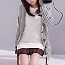 dámské pevná s kapucí dlouhý svetr, dlouhý rukáv
