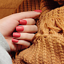 noktiju trake mat kratak odlomak blijeda crvena elegantan i seksi 24pcs / set