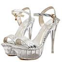Women's Sandals Summer Platform PU Wedding / Party & Evening / Dress Stiletto Heel Buckle / Crystal Heel Silver / Gold Others