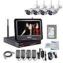 strongshine® bezdrátová IP kamera s 960p / infračervených / nepromokavého a NVR s 10.1inch LCD / 3TB dohled hdd souprav
