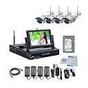 strongshine® bezdrátová IP kamera s 960p / infračervených / nepromokavého a NVR s 7inch LCD / 2TB dohled hdd souprav