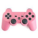 PS3用リチャージャブルワイヤレスUSBコントローラー(ピンク)