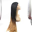 Sylvia syntetické krajky vpředu paruka černé pletené vlasy Ombre černé na blond rovné nejmenší prýmky tepelně odolná syntetické paruky pro