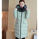 Dámské Standardní S vycpávkou Jednoduché Běžné/Denní Jednobarevné-Kabát Polyester Polypropylen Dlouhý rukáv Černá / Zelená
