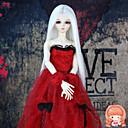 syntetické panenka příslušenství dlouhé rovné bílé barvě pro 1/3 1/4 BJD SD dz MSD panenka kostým parukou ne pro dospělého člověka