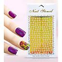 Nový nail art samolepky dutý květina motýl delfín geometrické obrázek designu nail art krása k061-070