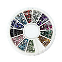 2000PCS 12-Color 1.5mm Kružni Diamond Nail Art Dekoracije