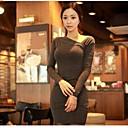 dámská asymetrická dlouhý rukáv bodycon mini šaty