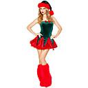 Vánoční dítě červená a zelená Velvet Classic Costume