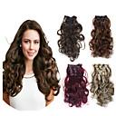 Odolné syntetické 20 palců dlouhé vlasy kus kudrnaté vlna tepla přirozené rozšíření vlasy