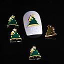 10ks Dimond vánoční strom 3d slitina nail drahokamu kutilství nail art dekorace