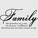 家族の枝のような家庭の壁のステッカーzy8082装飾adesivoデparede取り外し可能なビニールの壁のステッカー