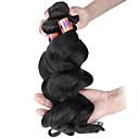 Ljudske kose plete Indijska kosa Valovita kosa 3 komada kosa isprepliće