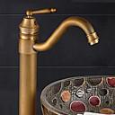 Suvremeni Nadgradni umivaonik Jedan Ručka jedna rupa in Antique Bronze Kupaonica Sudoper pipa