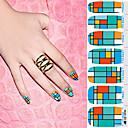 14pcs pro-okruženju punom nail art naljepnice
