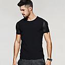 Tee-shirt Homme,Couleur Pleine Sortie Décontracté / Quotidien simple Chic de Rue Eté Manches Courtes Col Arrondi Coton Nylon Spandex Moyen