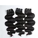 3個/ロット100%未処理の最高品質の実体波インドの髪、トップグレードのバージンインドの毛