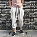 Pánské Jednoduchý Aktivní Není elastické Upnuté Kalhoty Rovné Široké nohavice Mid Rise Jednobarevné