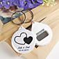 Plastic Privjesak favorizira-12 Komad / set Keychains Klasični Tema Personalized White / Crn
