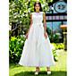 Lanting Bride® A-kroj / Princeza Sitna / Veći brojevi Vjenčanica - Šik i moderno / Elegantno i luksuzno / Za prijem Male bijele vjenčanice