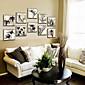 Cvjetni / Botanički Uokvireno platno / Uokvireni set Wall Art,PVC Materijal Šampanjac Stalak nije uključen s Frame For Početna Dekoracija