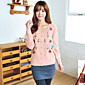 Yihuashaファッションフローラルプリントロングスリーブセーター