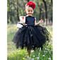Krinolina Do sredine lista Haljina za djevojčicu s cvijećem - Saten / Til Bez rukava Lađa izrez s Cvijeće