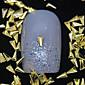 100ks trojúhelník zlatý kov nýt nail art dekorace