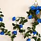 """95 """"L set 2 slatka ruže cvijet ratana svilene tkanine cvijeće plavo"""