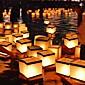 Voda plutajući svijeća svjetiljka biorazgradivi (15 * 15 cm)