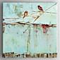 Ölgemälde Vögel auf dem Baum Hand bemalte Leinwand mit gestreckten Werk