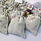 結婚式/記念日/ブライダルシャワー/ベビーシャワー/成人式/誕生日 - ラッピングバッグ/ギフトバッグ ( チョコレート/ブラウン/グリーン/ピンク/ブラック/ホワイト , ジュート
