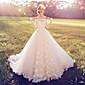 Plesové šaty Svatební šaty Velmi dlouhá vlečka Spadlý Krajka s