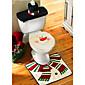クリスマス洗面所の装飾サンタ雪だるま便座カバー