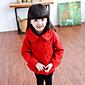 Dívka je Jednobarevné Zima Bundičky a kabáty Bavlna Zelená / Růžová / Červená