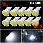velike snage 10 x bijeli klip T10 194 168 dovela 12v crtica instrumentima žarulje