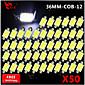 50x feston 36mm velike snage klip SMD žarulja karta svjetlo kupola žarulja 211-2 578 212-2