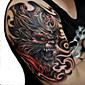 vodootporan privremene tetovaže velika ruka lažni transfer tattoo naljepnice seksi prskanje