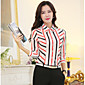 Majica Ženski,Plus veličine Ležerno/za svaki dan Duga-Dugih rukava Kragna košulje-Sva godišnja doba Više boja Tanko Poliester