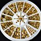 fashion wonem nové horké prodeji 5 velikostí kutilství 3D nail art dekorace akryl třpytky zlatý drahokamu