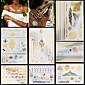 7ks zlato stříbro dočasné tetování na sexy ženy náhrdelník řetězec šperky totem dočasná tetování samolepky elegantní