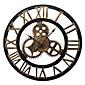 ヨーロッパスタイルのヴィンテージ鉄ミュート壁時計(ブロンズ色)