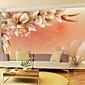 sjajnom kožom efekt veliki mural tapeta cvijeće art zid dekor za dnevni boravak tv soaf pozadini