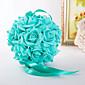 ウェディングブーケ ラウンド型 フリーフォーム バラ 装飾品 結婚式 パーティー ・夜 弾性サテン 5.91inch(約15cm)