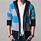 Obična Muška Kardigan Dugih rukava-Ležerne prilike,Color block Pamuk