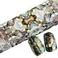 1PCS 100cmx4cmグリッターネイル箔のステッカー美しい羽素敵な漫画の唇の爪の装飾DIYの美容stzxk06-10