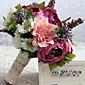 """Cvijeće za vjenčanje Slobodni oblik Roses Peonies Buketi Vjenčanje Saten 10.24 """"(Approx.26cm)"""